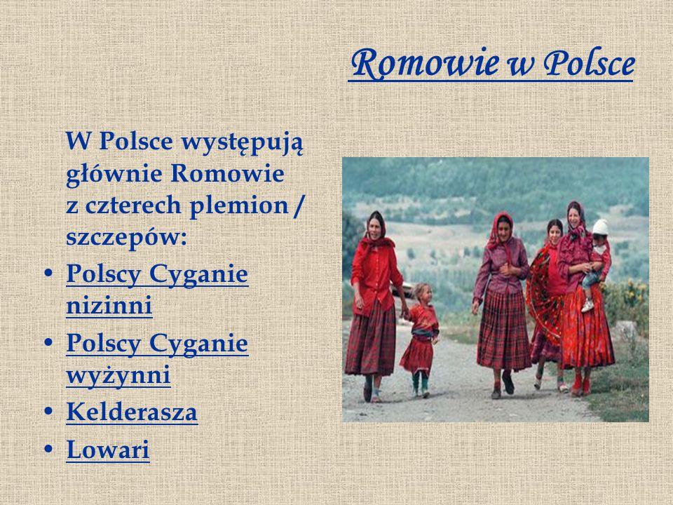Romowie w Polsce W Polsce występują głównie Romowie z czterech plemion / szczepów: Polscy Cyganie nizinni.