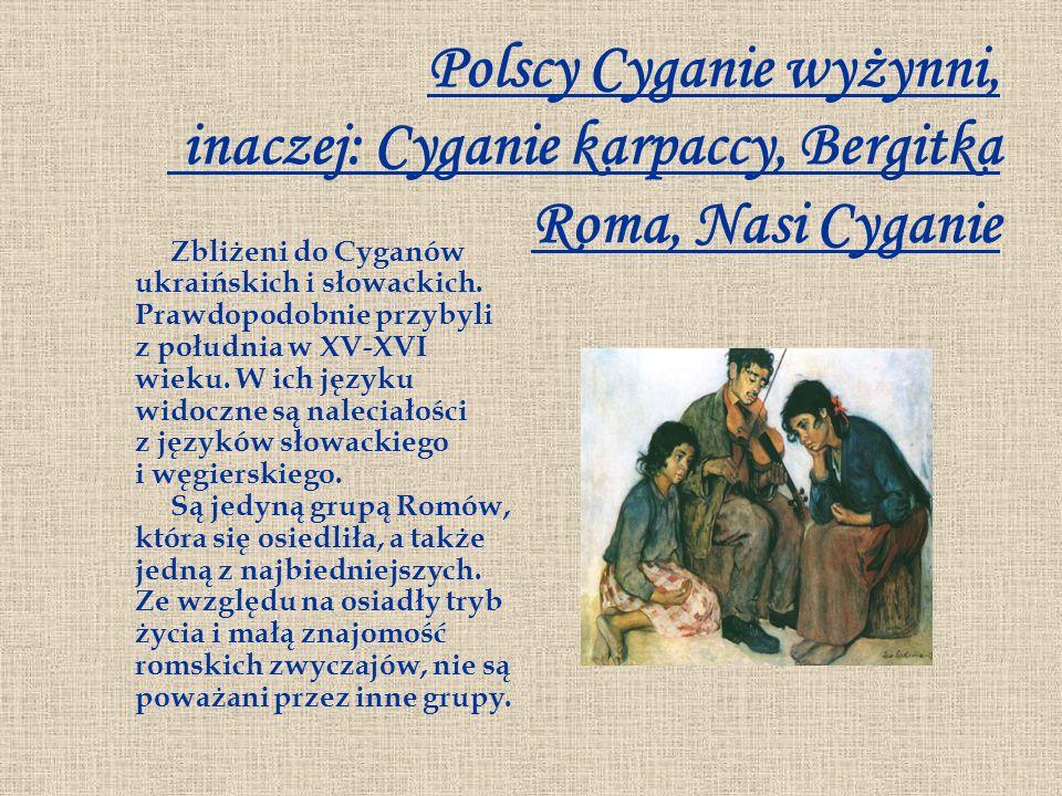 Polscy Cyganie wyżynni, inaczej: Cyganie karpaccy, Bergitka Roma, Nasi Cyganie