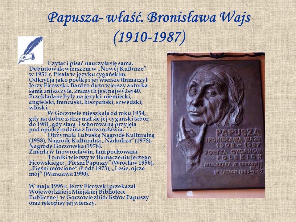 Papusza- właść. Bronisława Wajs (1910-1987)