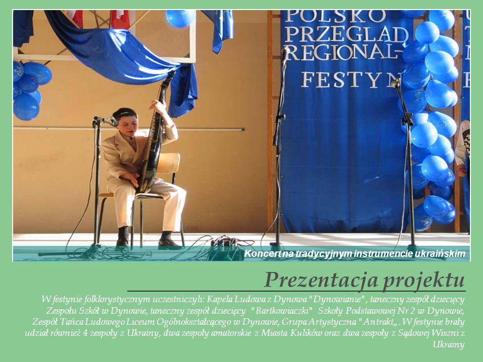 Prezentacja projektu Koncert na tradycyjnym instrumencie ukraińskim