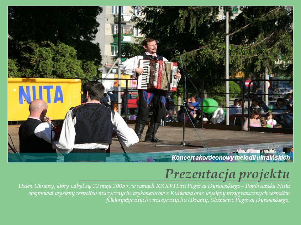 Prezentacja projektu Koncert akordeonowy melodii ukraińskich