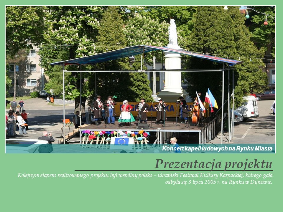 Prezentacja projektu Koncert kapeli ludowych na Rynku Miasta