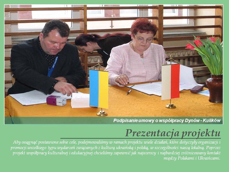 Prezentacja projektu Podpisanie umowy o współpracy Dynów - Kulików