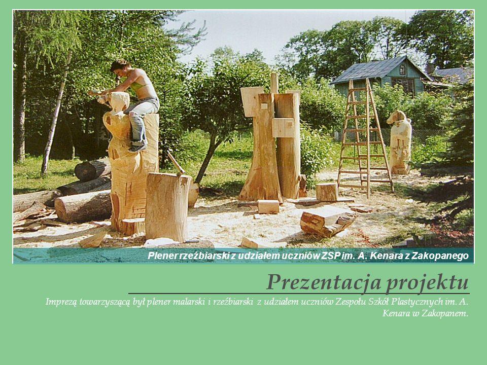 Plener rzeźbiarski z udziałem uczniów ZSP im. A. Kenara z Zakopanego