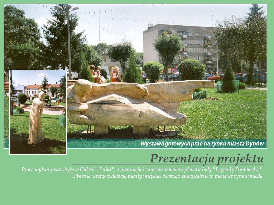 Prezentacja projektu Wystawa gotowych prac na rynku miasta Dynów