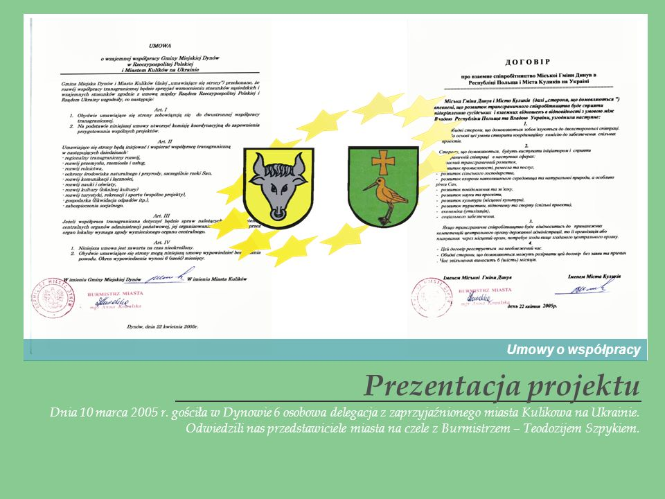 Prezentacja projektu Umowy o współpracy