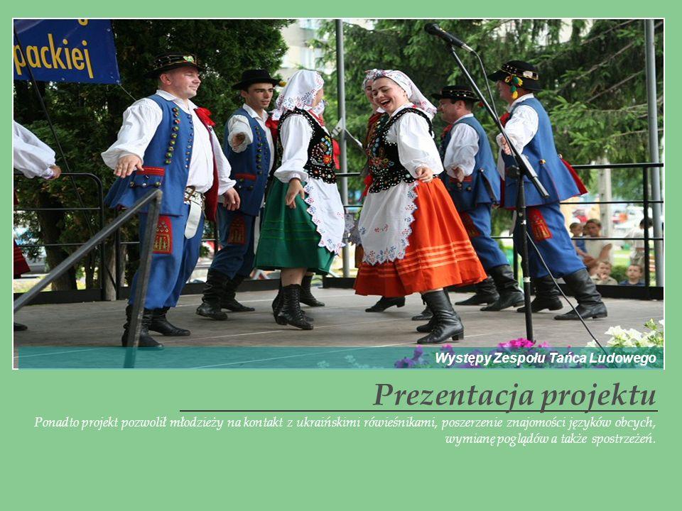 Prezentacja projektu Występy Zespołu Tańca Ludowego