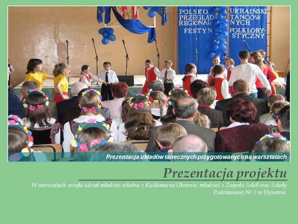 Prezentacja układów tanecznych przygotowanych na warsztatach