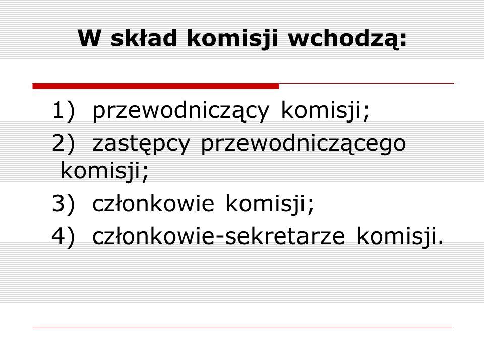 W skład komisji wchodzą: