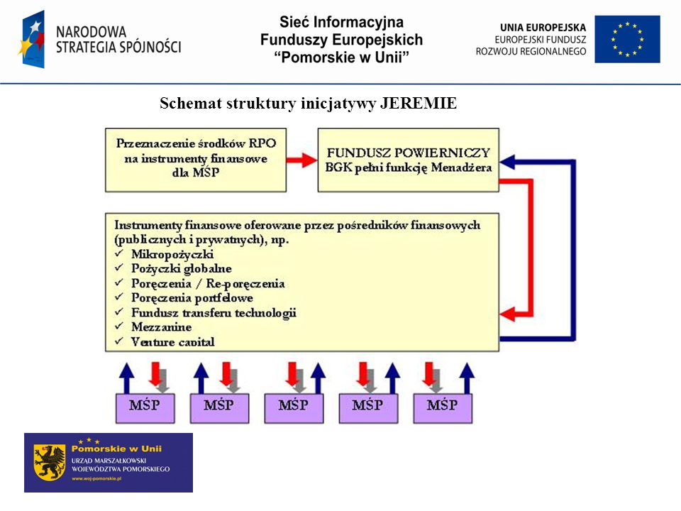 Schemat struktury inicjatywy JEREMIE
