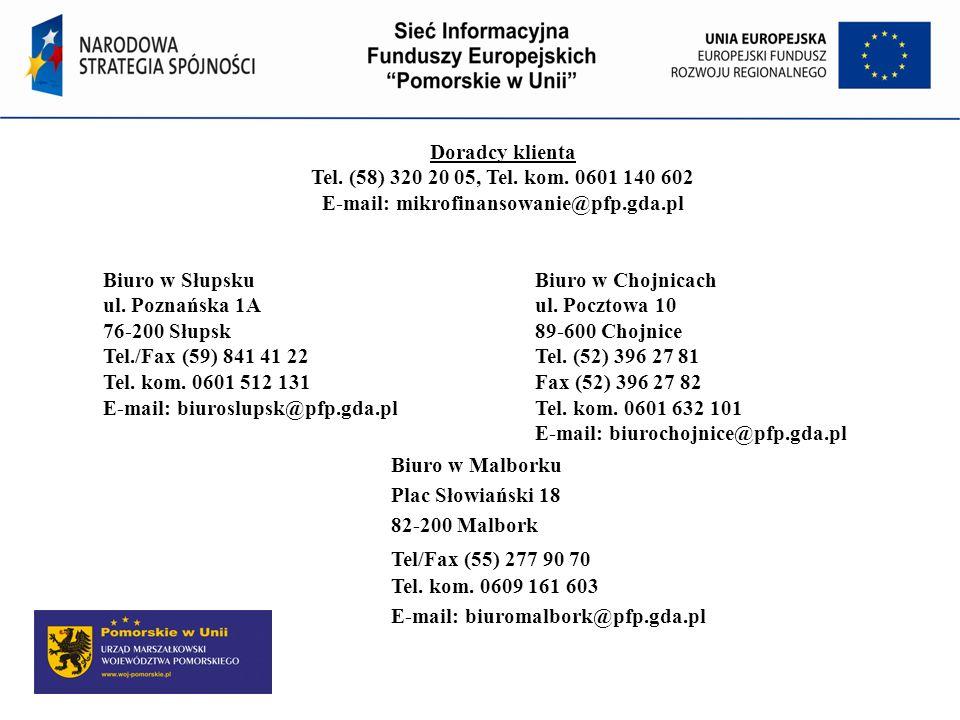 E-mail: mikrofinansowanie@pfp.gda.pl