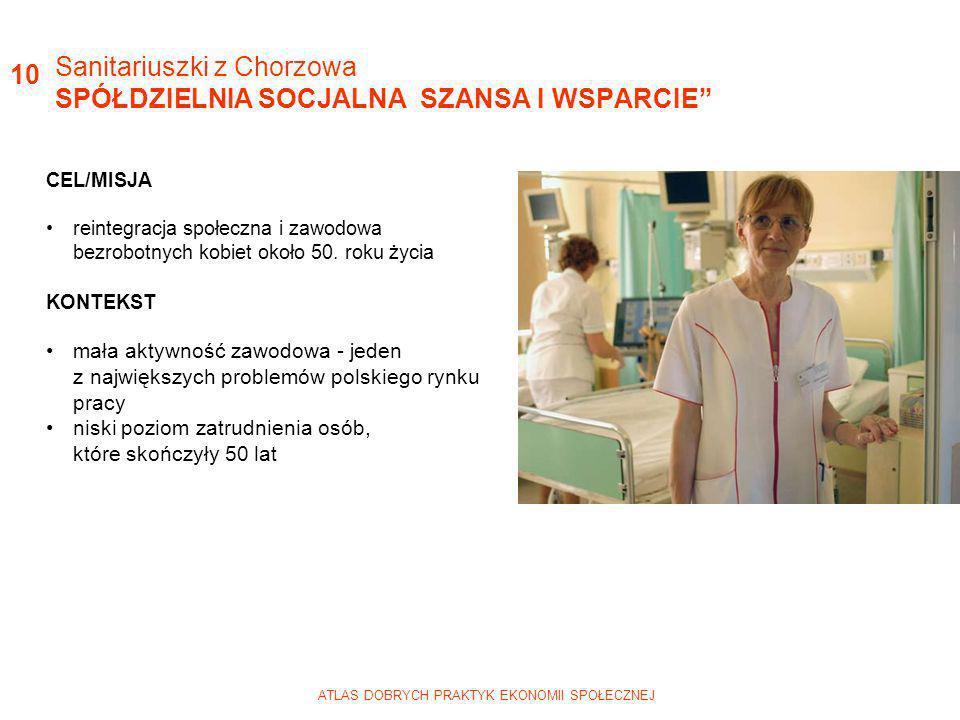 Sanitariuszki z Chorzowa SPÓŁDZIELNIA SOCJALNA SZANSA I WSPARCIE