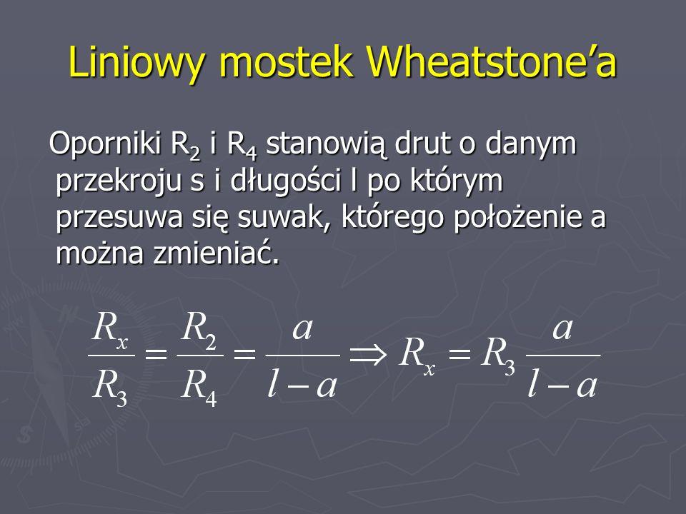Liniowy mostek Wheatstone'a