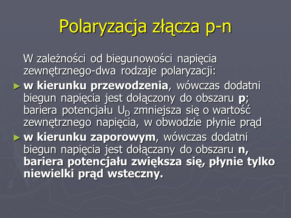 Polaryzacja złącza p-n