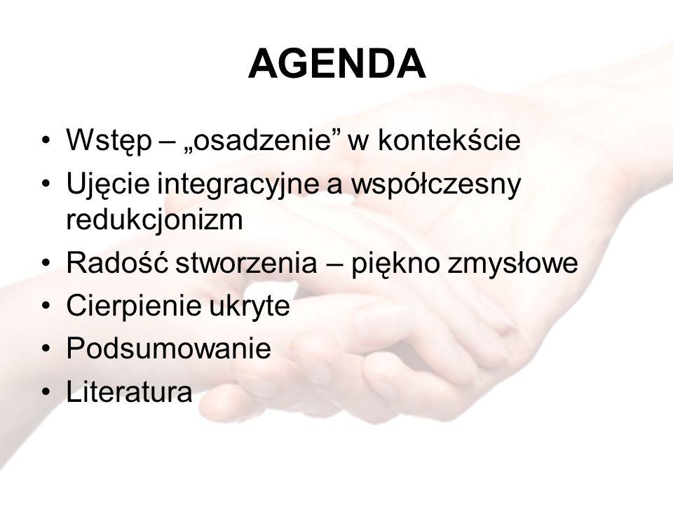 """AGENDA Wstęp – """"osadzenie w kontekście"""
