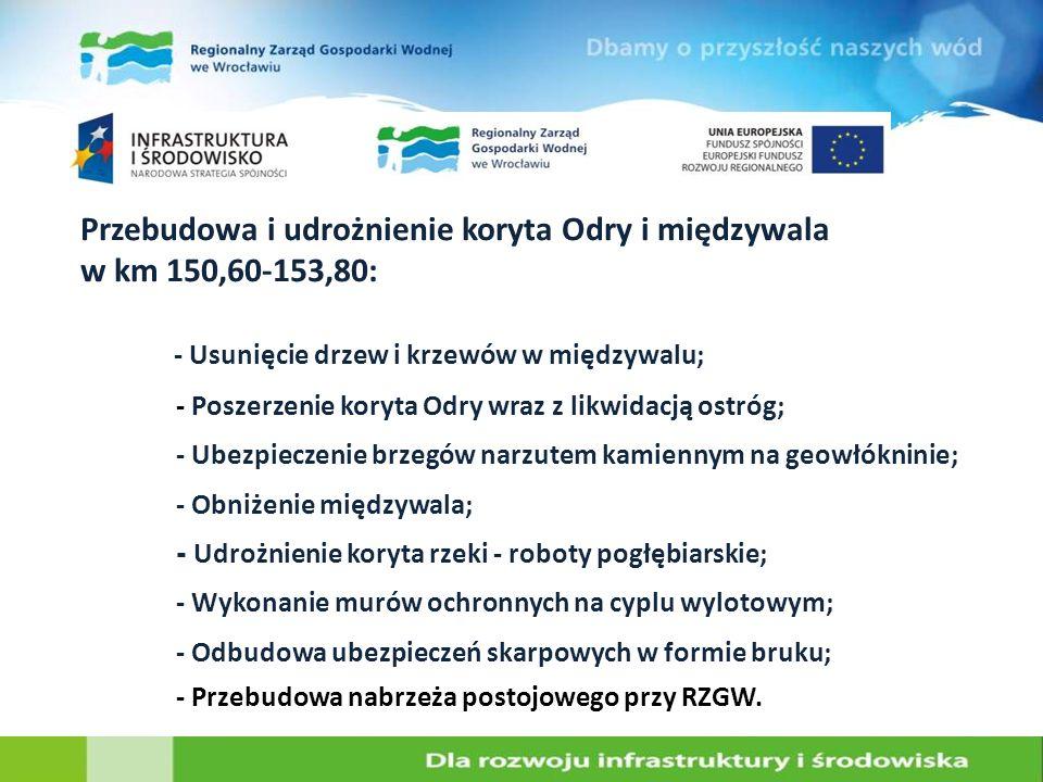 Przebudowa i udrożnienie koryta Odry i międzywala w km 150,60-153,80: