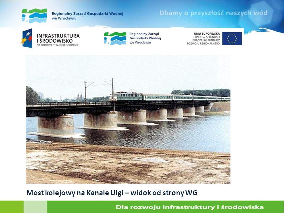Most kolejowy na Kanale Ulgi – widok od strony WG
