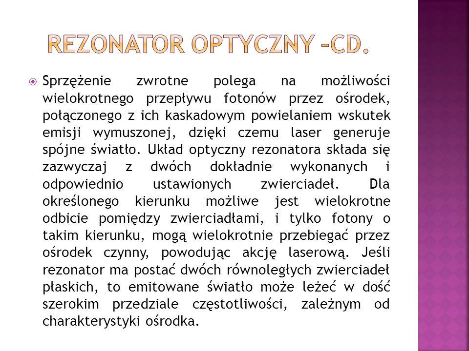 REZONATOR OPTYCZNY –CD.