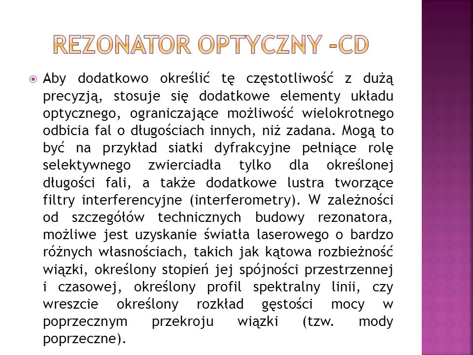 REZONATOR OPTYCZNY -CD