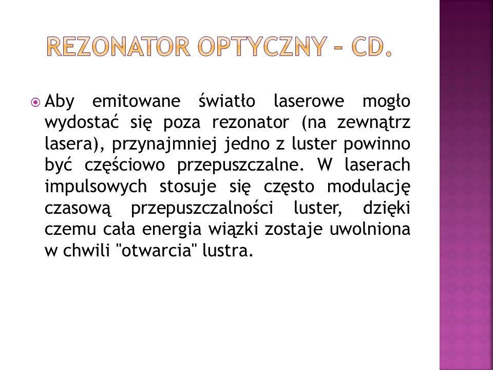 REZONATOR OPTYCZNY – CD.