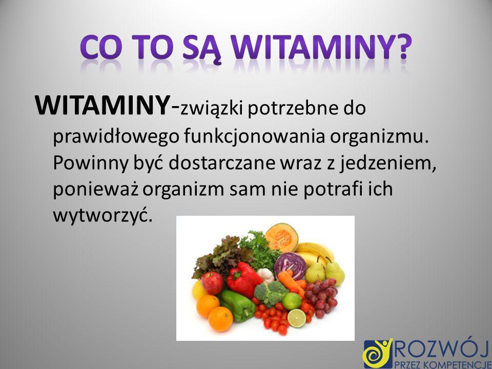 Co to są witaminy