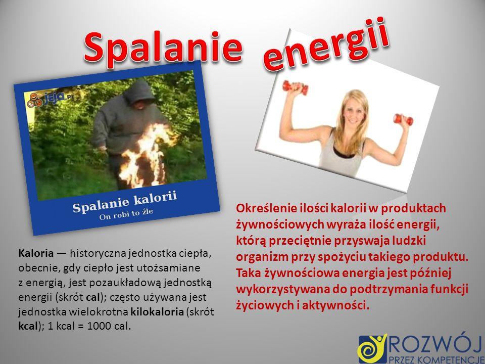 Spalanie energii.