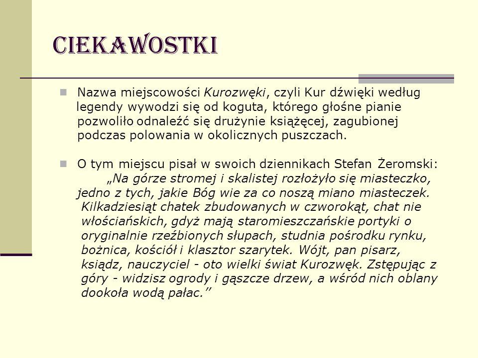 Ciekawostki Nazwa miejscowości Kurozwęki, czyli Kur dźwięki według