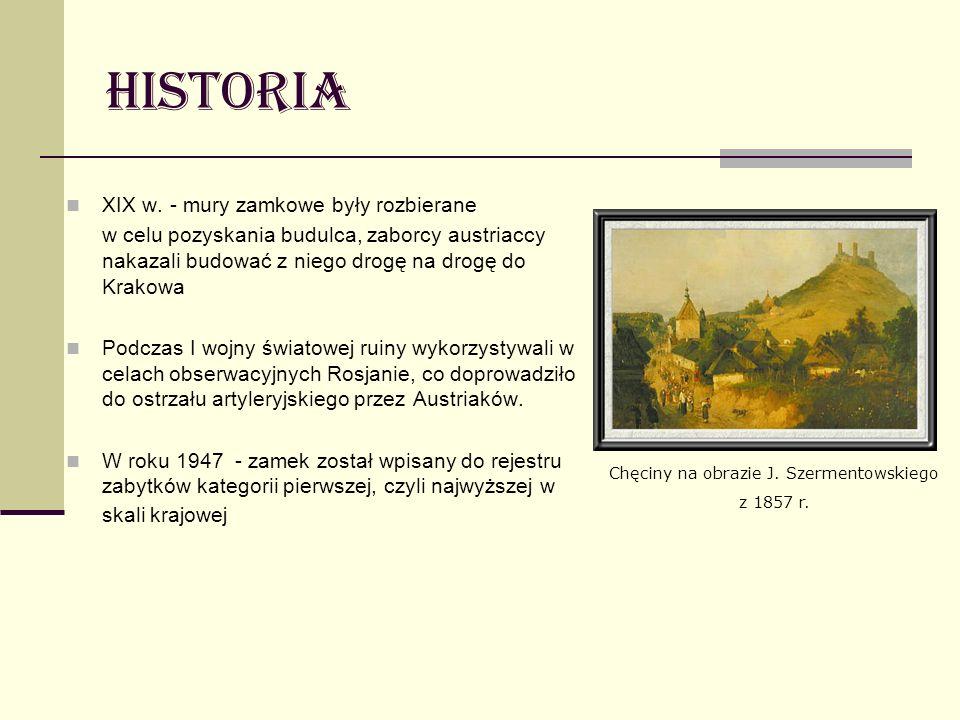 Chęciny na obrazie J. Szermentowskiego