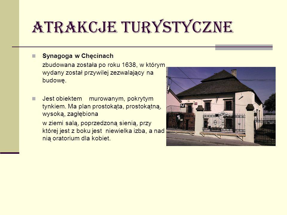 Atrakcje turystyczne Synagoga w Chęcinach