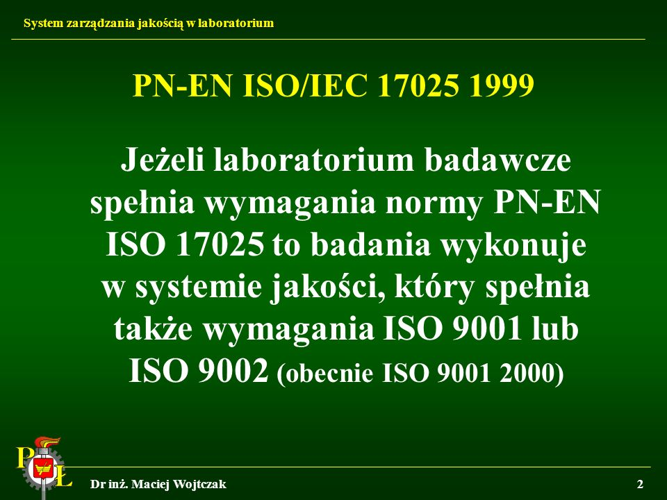 PN-EN ISO/IEC 17025 1999