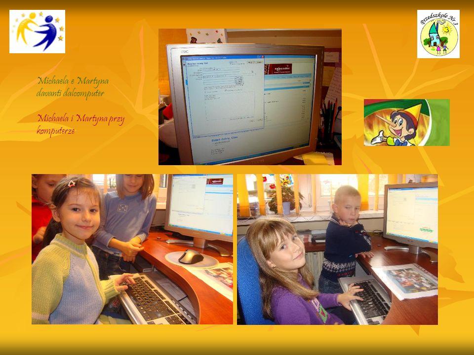 Michaela e Martyna davanti dalcomputer