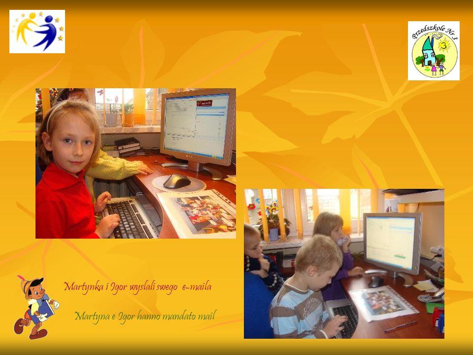 Martynka i Igor wyslali swego e-maila