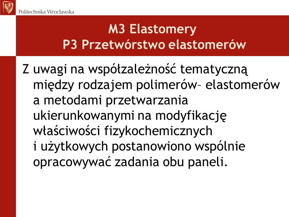 M3 Elastomery P3 Przetwórstwo elastomerów