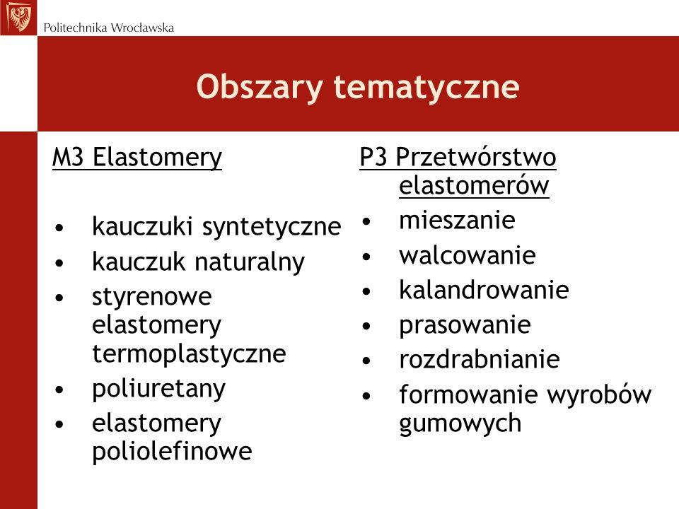 Obszary tematyczne M3 Elastomery kauczuki syntetyczne