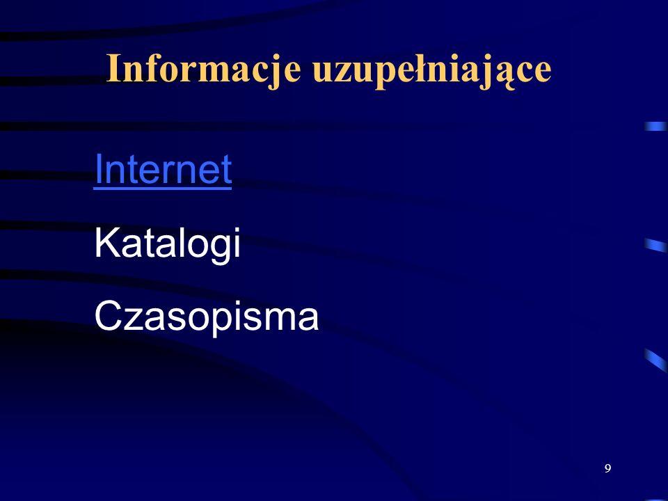 Informacje uzupełniające