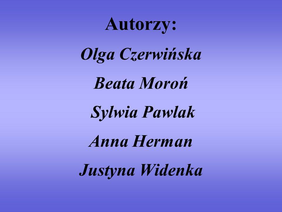 Autorzy: Olga Czerwińska Beata Moroń Sylwia Pawlak Anna Herman Justyna Widenka