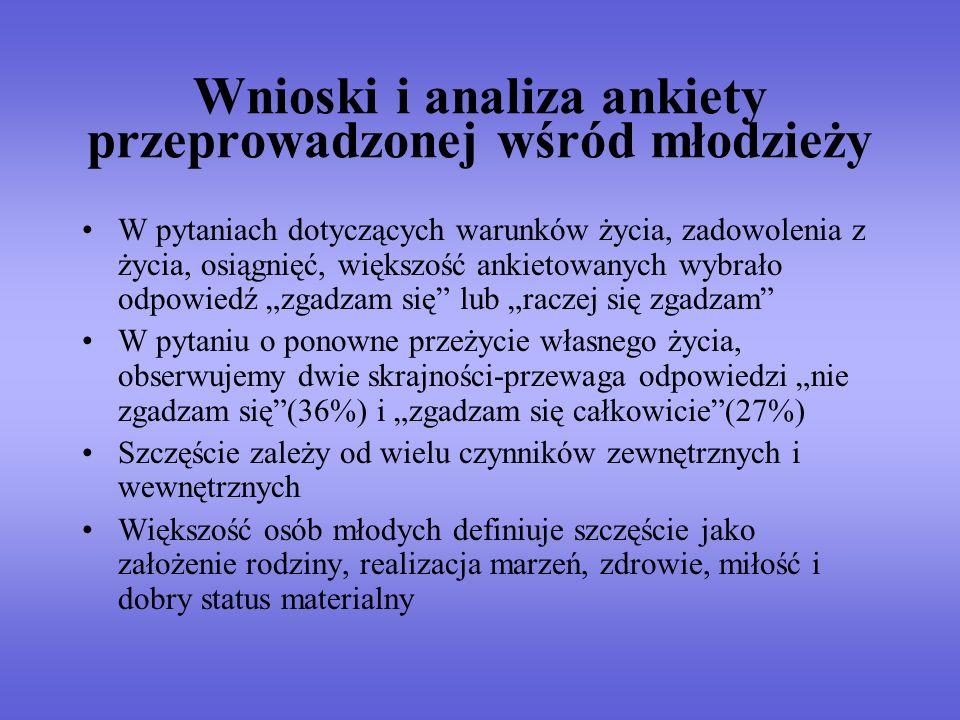 Wnioski i analiza ankiety przeprowadzonej wśród młodzieży