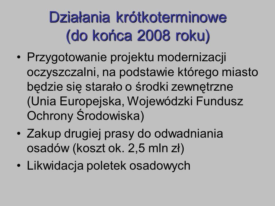 Działania krótkoterminowe (do końca 2008 roku)