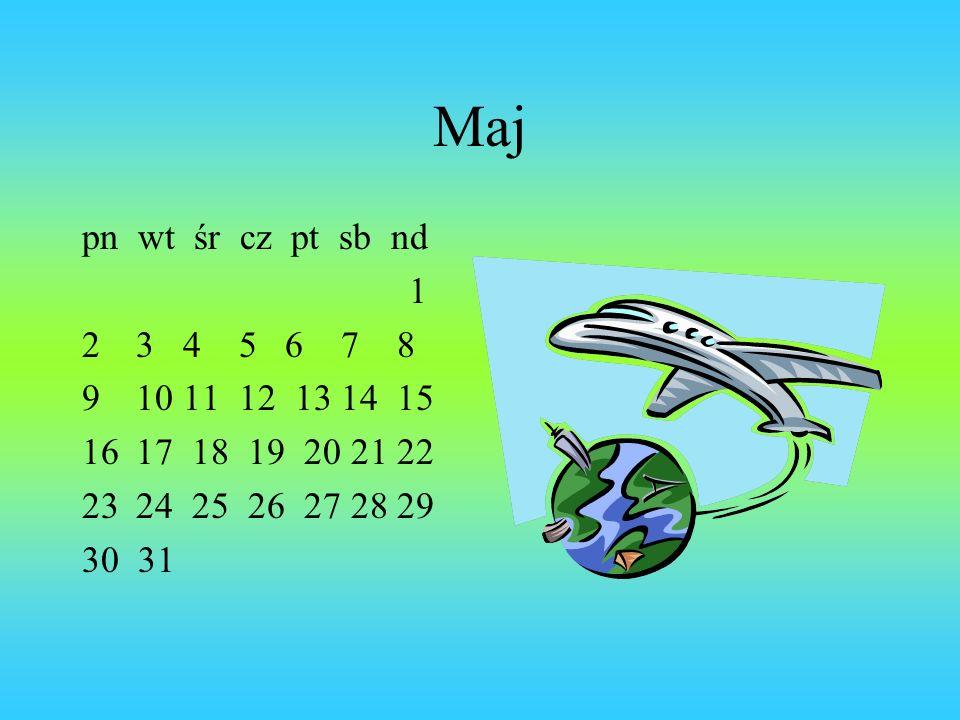 Maj pn wt śr cz pt sb nd. 1. 3 4 5 6 7 8. 10 11 12 13 14 15. 17 18 19 20 21 22.