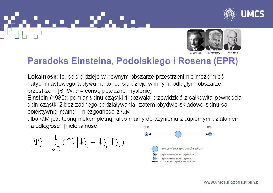 Paradoks Einsteina, Podolskiego i Rosena (EPR)