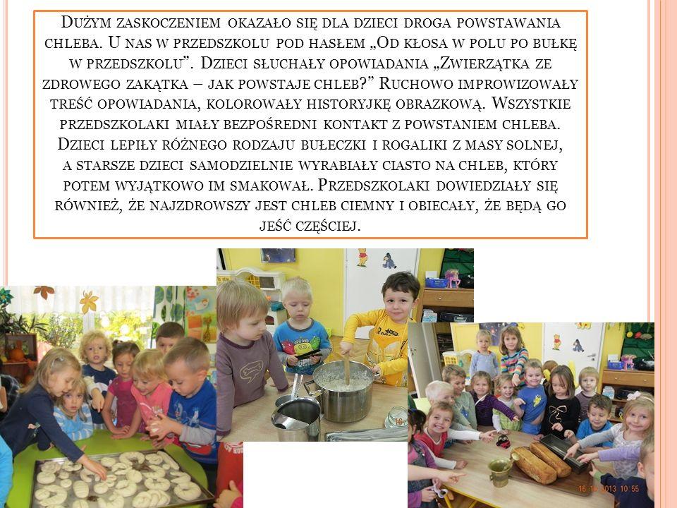 Dużym zaskoczeniem okazało się dla dzieci droga powstawania chleba