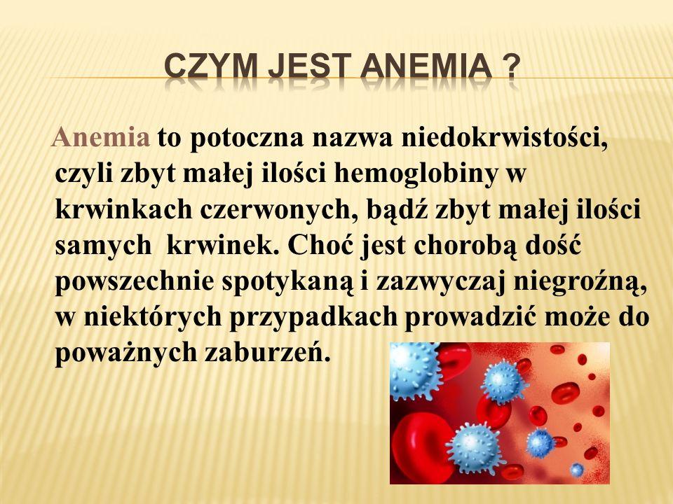 Czym jest anemia