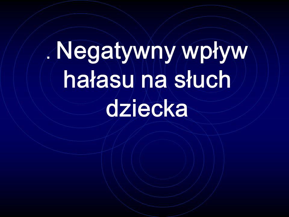 . Negatywny wpływ hałasu na słuch dziecka