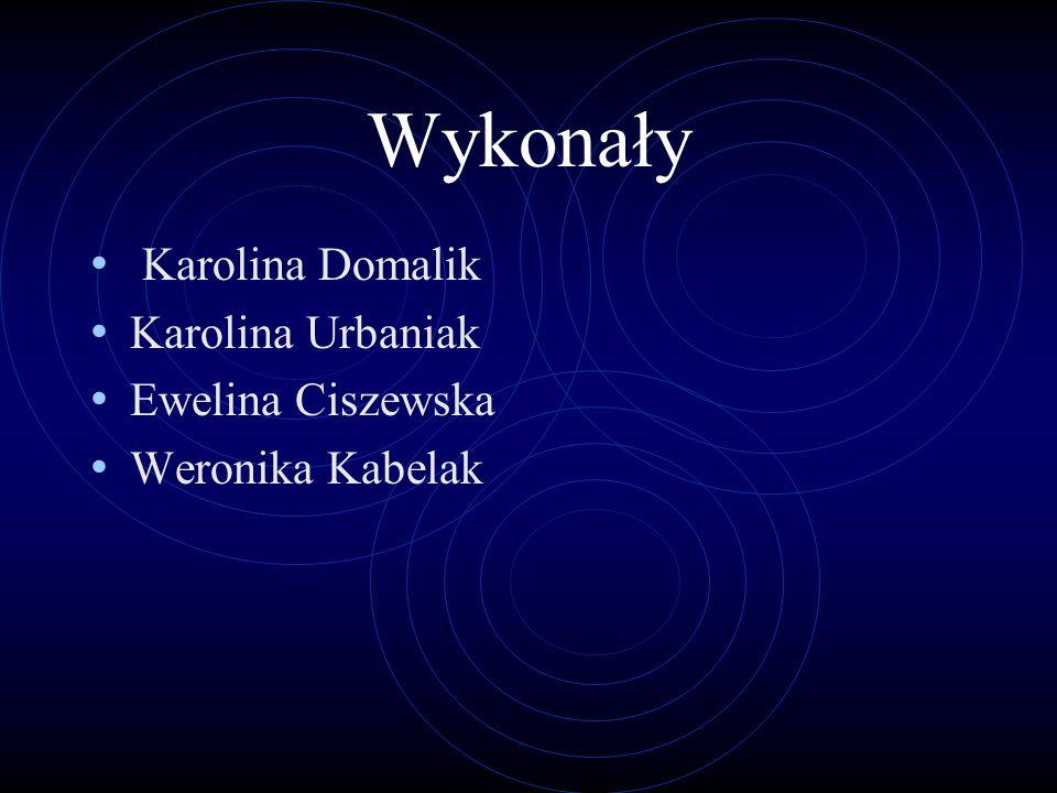 Wykonały Karolina Domalik Karolina Urbaniak Ewelina Ciszewska