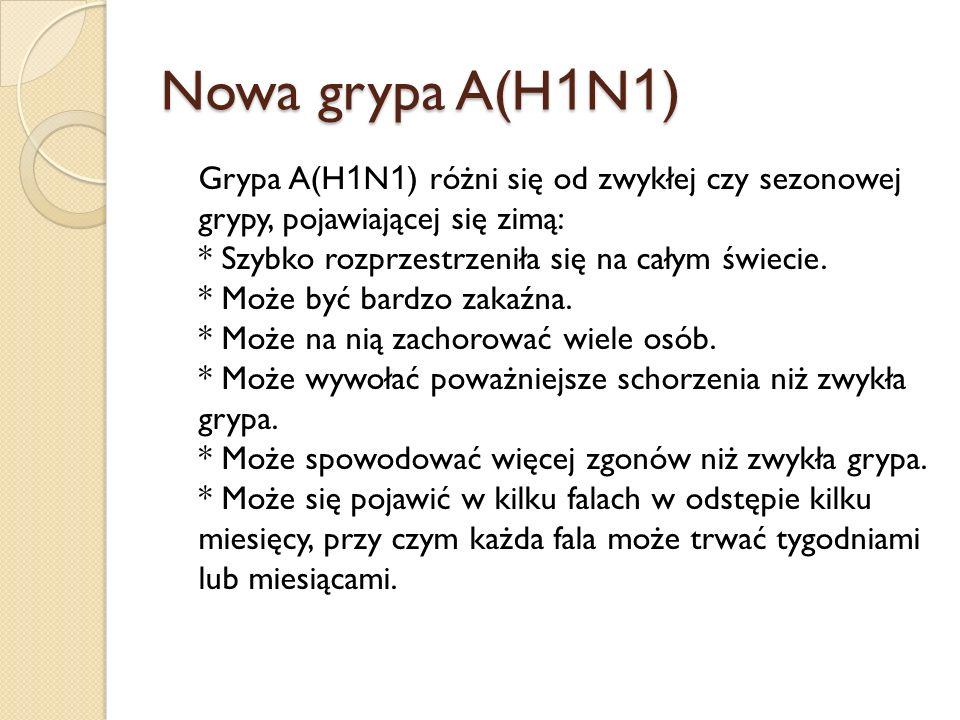 Nowa grypa A(H1N1)