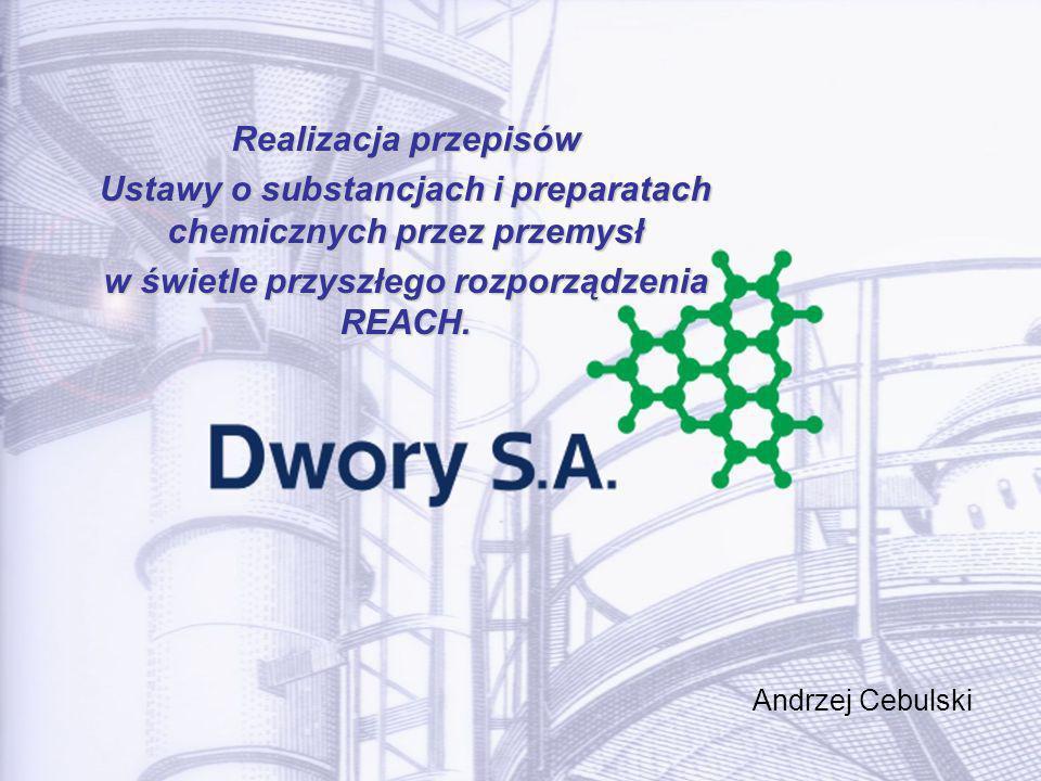 Ustawy o substancjach i preparatach chemicznych przez przemysł