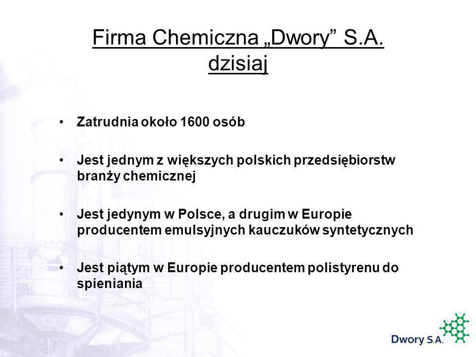 """Firma Chemiczna """"Dwory S.A. dzisiaj"""