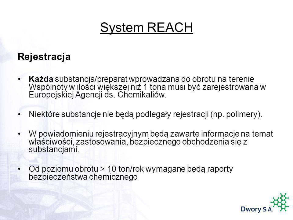 System REACH Rejestracja