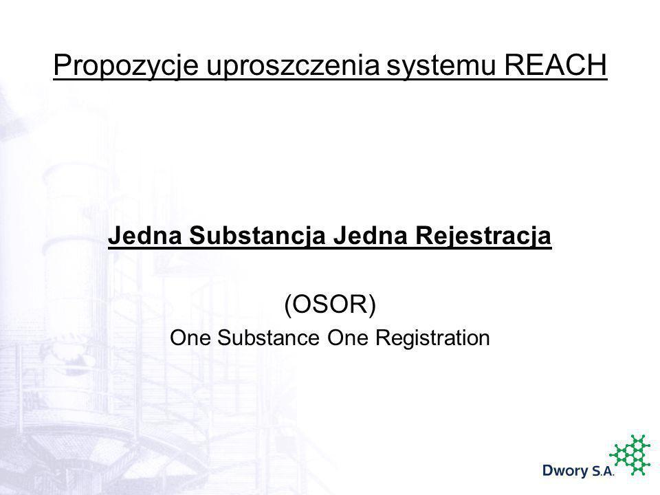 Propozycje uproszczenia systemu REACH