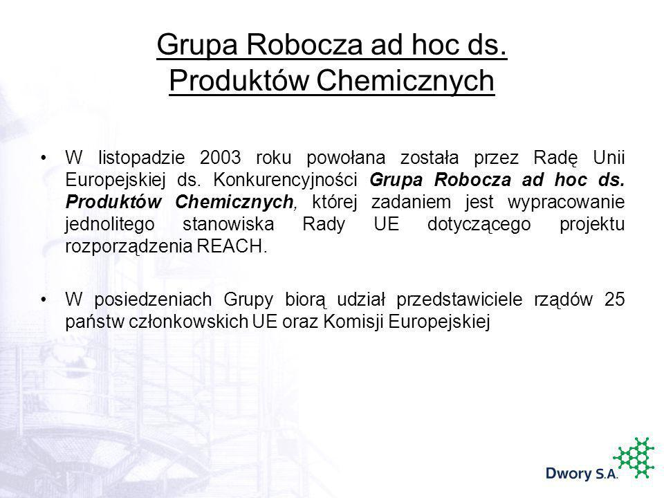 Grupa Robocza ad hoc ds. Produktów Chemicznych
